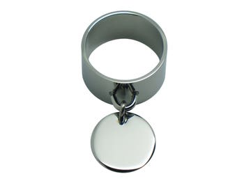 Pendant stainless steel ring