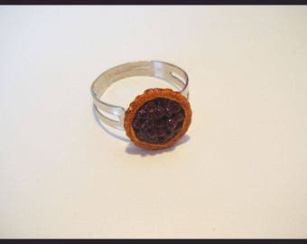 ♥ greed tart fruit resin Adjustable ring ♥