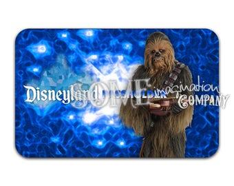 Chewbacca Disneyland Passholder Sticker