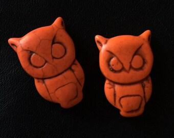 2 beaded OWL