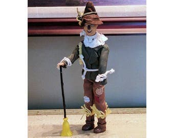 """Vintage RARE Hard to Find MGM 1981 Toy Time Complete Scare Crow Scarecrow from The Wizard of Oz 12"""" Tall Doll Action Figure"""
