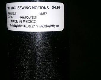 6 in black tulle