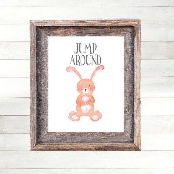 Rabbit Nursery Art Print, Bunny Nursery Decor,  Farm Animal Nursery Art, Farm Nursery Print,  Country Nursery Art, Farmhouse Nursery Art