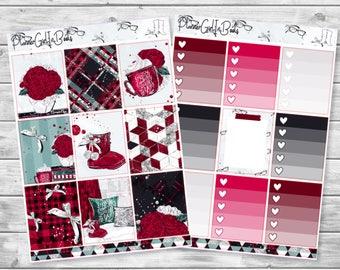 red uggs planner sticker kit