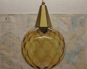 Orrefors Amber Pendant Light - Large