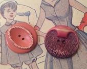 2 Buffed Celluloid Button...