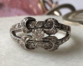 Romantic Art Nouveau Diamond Ring