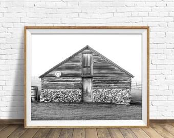 "black and white art, large art, large wall art, instant download printable art, digital download art, printable art - ""Stone Foundations"""