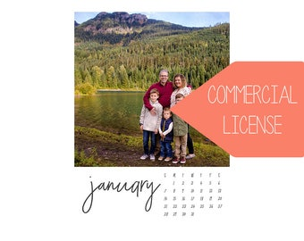 The 2018 Sarah Photo Calendar // 5x7  // INCLUDES COMMERCIAL LICENSE