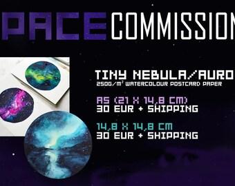 Tiny Nebula/Aurora Commissions