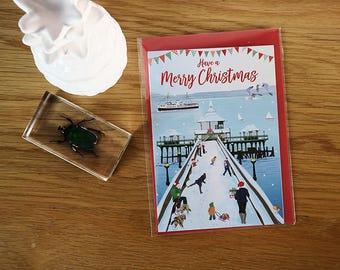 Clevedon Pier Christmas Card