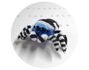 Furry Spider Polymer Clay Figurine
