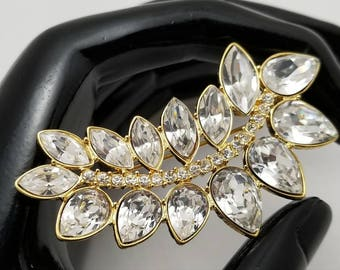 MONET Clear Marquise Rhinestone Pin