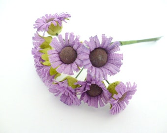 """Small daisies Lilac Flowers_ PA6542528/03524_ Flowers_ daisies of 12/15 mm / 0,59""""_ corsage of 10 flowers"""