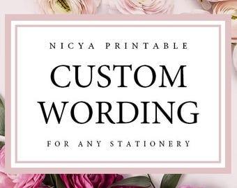 Custom Wording | Add on