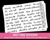 Self Care Stickers, Planner Stickers, Bullet Journal Stickers, Self Care Reminders, Self Care Phrase Stickers, Word Stickers