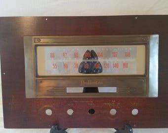 Hoffman radio faceplate/vintage radio faceplate/radio faceplate/radio craft piece/craft project