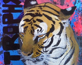 Tiger Will| Abstract, Tiger Wildlife Acrylic Painting