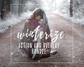 Winterizing Action and Snow Overlay bundle for Photoshop