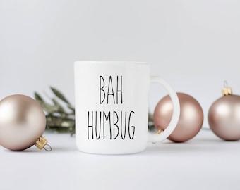 Bah Humbug Christmas Coffee Mug -  Coffee Mug - Bah Humbug Mug - Christmas Coffee Cup - Dishwasher Safe - Unique Gift