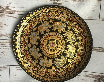decorative plate decorative plates hand painted plate wall plate plate hanging - Decorative Wall Plates