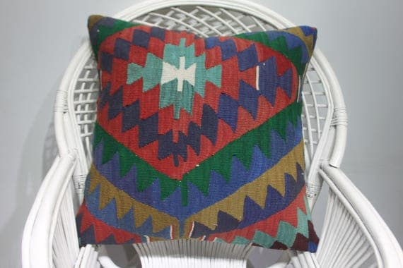 red crochet kilim pastel decorative pillows kilim pillow