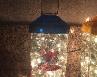 Lighted Spiderman Bottle