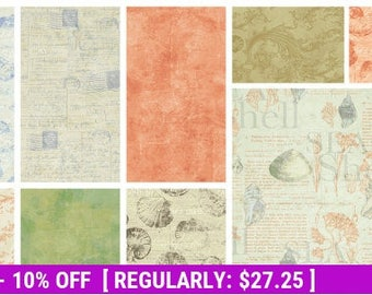 SALE! Sea Cottage - Layer Cake - Clothworks - Beautiful Print Just Released!