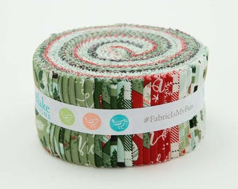 "Comfort and Joy - Jelly Roll - Christmas - Quilt fabric - Riley Blake - by Dani Mogstad for My Mind's Eye - (40) 2.5"" x 44"" strips - C"