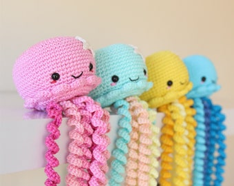Crochet jellyfish/ Crochet Octopus/ Octopus Toy/ Amigurumi Jellyfish/ Premature Baby Toy/  Crochet Toy/ Baby Shower Gift