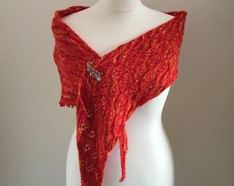 Butterflower Wrap Scarf Shawl Knitting Pattern