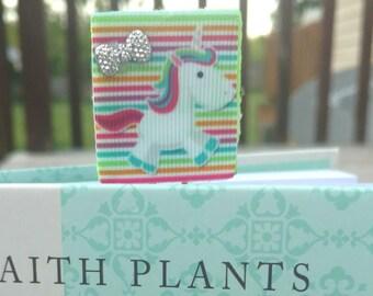 Felt Unicorn planner clip, Unicorn paper clip, Unicorns, Bookmark bookmarks, Unicorn accessories, Unicorn decorations, Cute planner clip