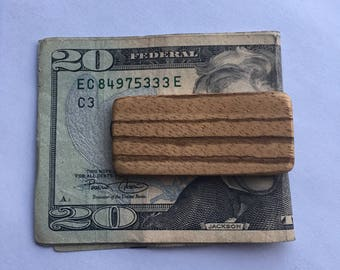Wood Money Clip - Groomsmen gift - wedding accessories - 5th Anniversary gift for him - gifts for him - groomsmen money clip