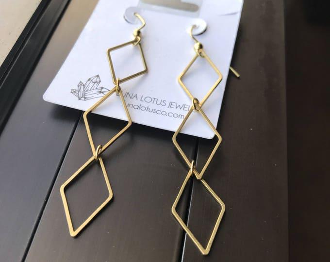 Diamond Drops Geometric Earrings