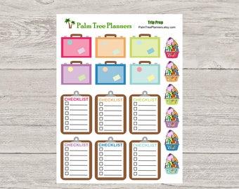 Trip Prep Planner Stickers for Erin Condren Planners