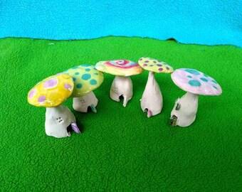 Whimsical Mushroom Fairy Houses