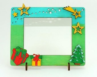 Tinker set  picture frames fir-tree 1, to paint and paste of wood