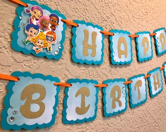 Bubble Guppies Birthday Banner, Bubble Guppies Birthday, Bubble Guppies Banner, Bubble Guppies Party, Bubble Guppies Birthday Party