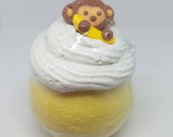 Monkey Farts Bath Bomb with Bubble Frosting