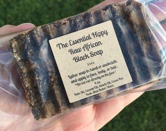 Raw African Black Soap ~ Sensitive Skin ~ No Lye