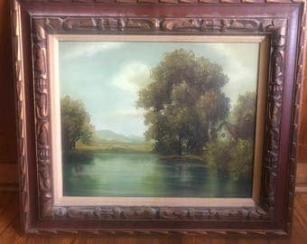 Original Cantrell Oil on Canvas River and Landscape Painting
