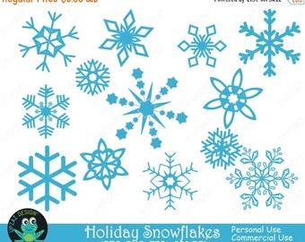75% OFF SALE Snowflake Clipart, Commercial Use, Snowflakes, Digital Clip Art, Digital Images - UZ624