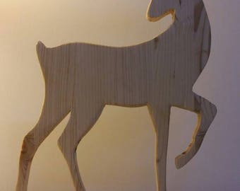 Wooden reindeer Silhouette-Christmas decorations-wood