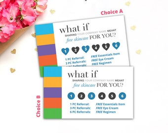 Rodan and Fields, Rodan + Fields, Referral Punch Card, Loyalty Card, R+F, RF, Digital