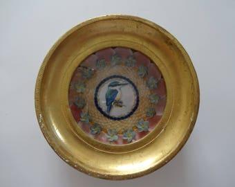 Florentine Frame Specimen Miniature Sailors Valentine  Italiay Vintage Frame seashell art