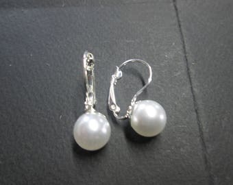 Stud Earrings with a ball
