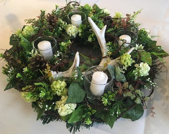 Table wreath, all season wreath