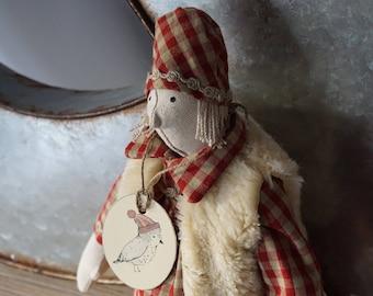 Bergère linen inspired Tilda, dressed doll