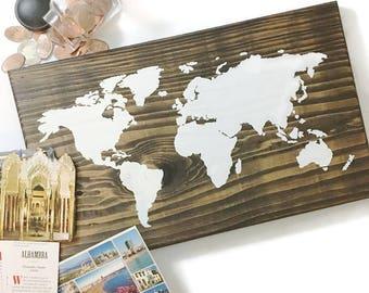 Wooden World Map Wall Art wooden world map | etsy