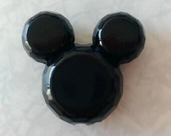 Black mickey bead